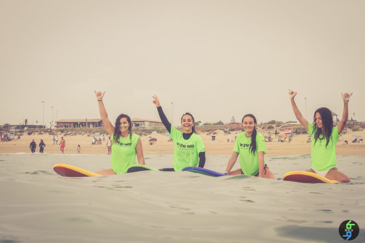 surf camp menores on the sea