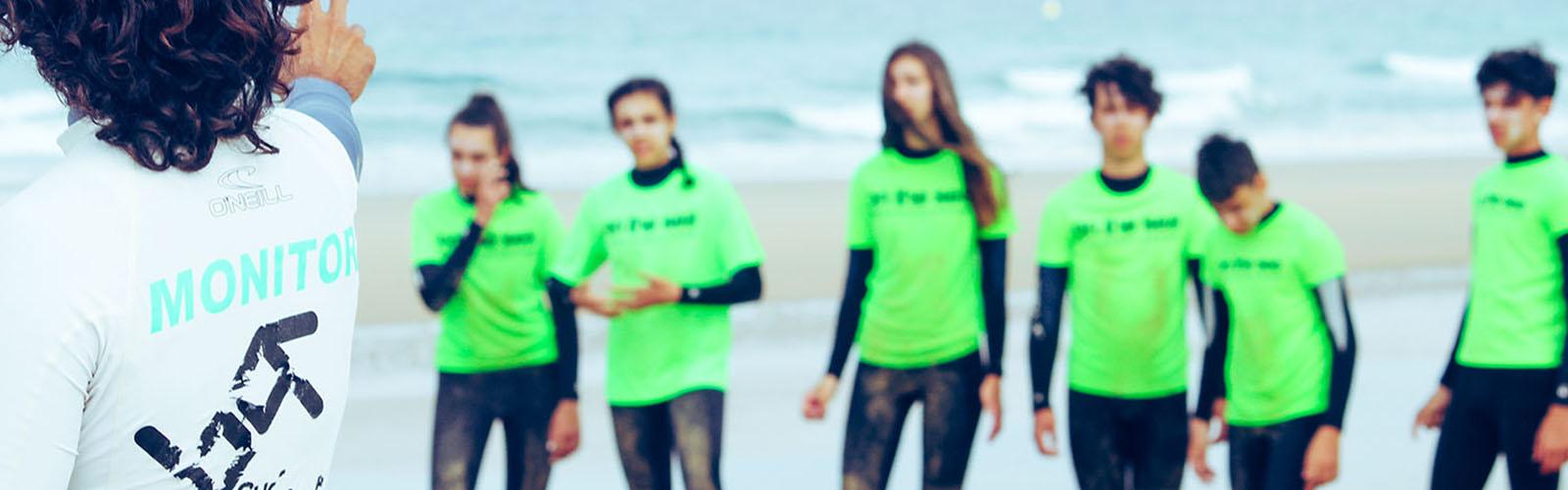 campamento de surf para menores el palmar